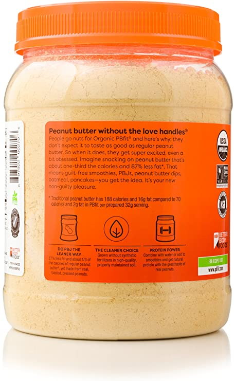 pbfit all natural organic peanut butter powder 30 ounce peanut butter powder from real roasted pressed peanuts good source of protein
