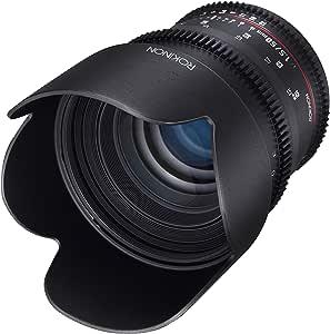 Rokinon DS50M-NEX Cine DS 50 mm T1.5 AS IF UMC Full Frame Cine Wide Angle Lens for Sony E-Mount Cameras (NEX)