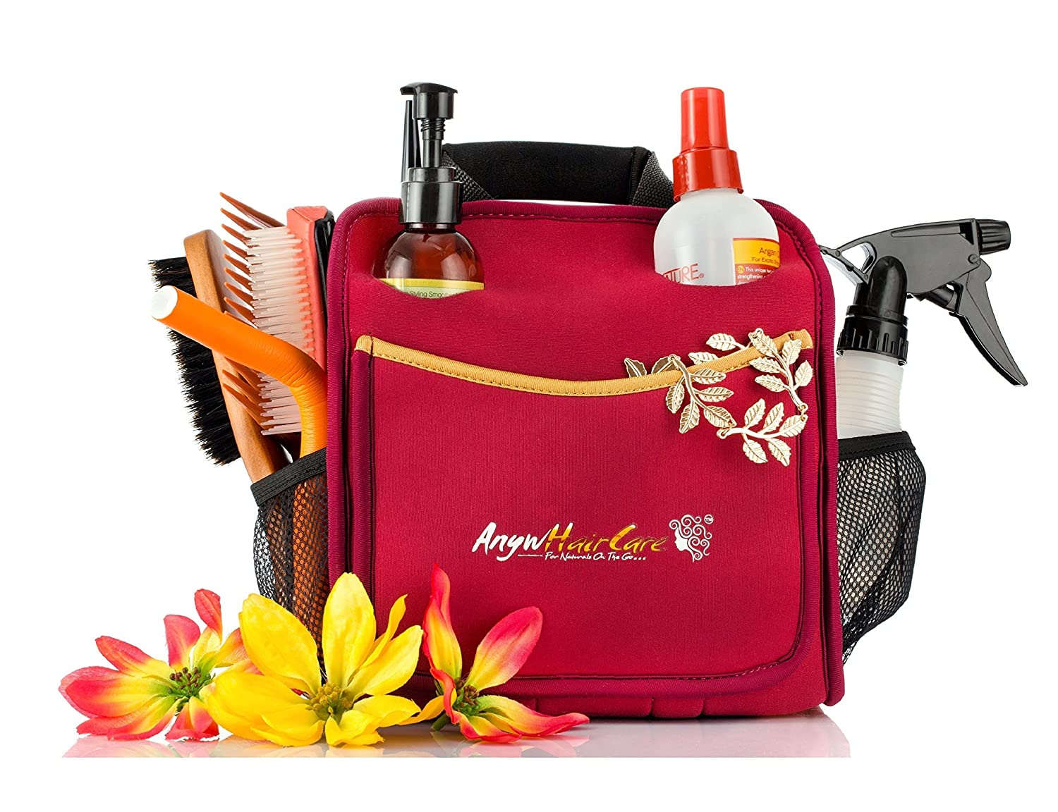 b382d7edb9d Amazon.com  Organizer Bag for Hair Care and Bathroom Accessories   Holder  Tool and Storage Caddy for Dorms, Hair Salon and Accessories  Home   Kitchen