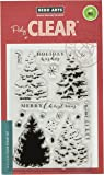 Hero Arts Photo-Polymer Clear Stamps 4-inch x 6-inch-Color Layering Christmas Tree