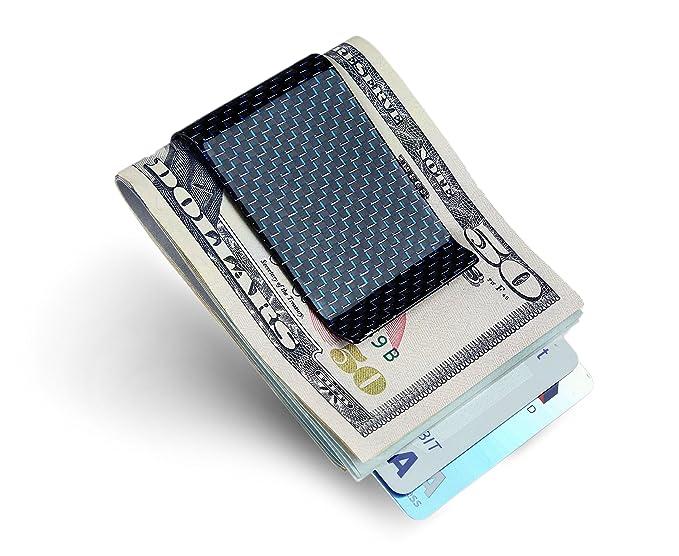 carbon fiber money clip credit card holder serman brands slim business card holder clips for - Money Clip Credit Card Holder