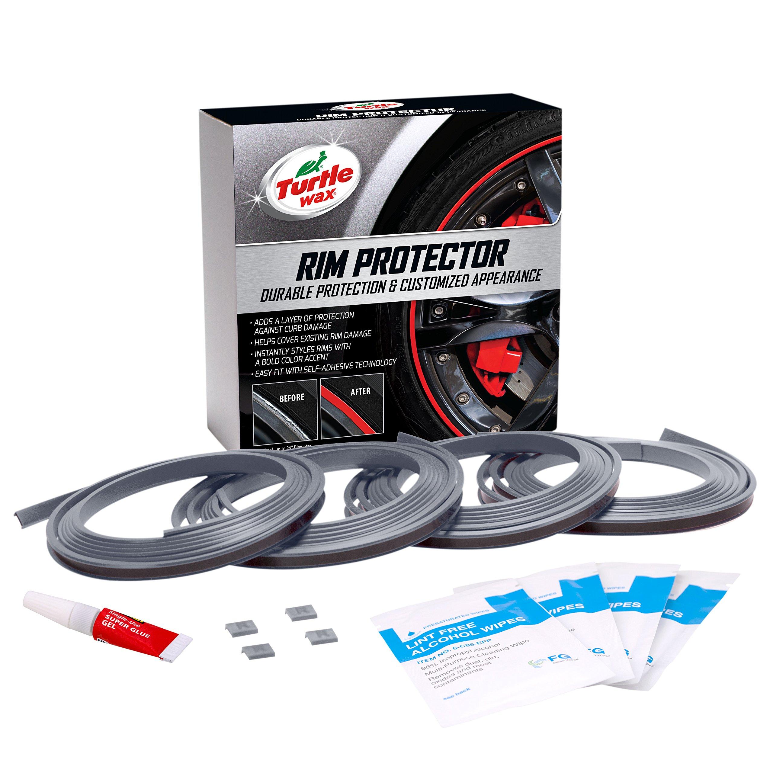 Turtle Wax 50700 Premium Rim Protector (Silver, Set of 4), 4 Pack
