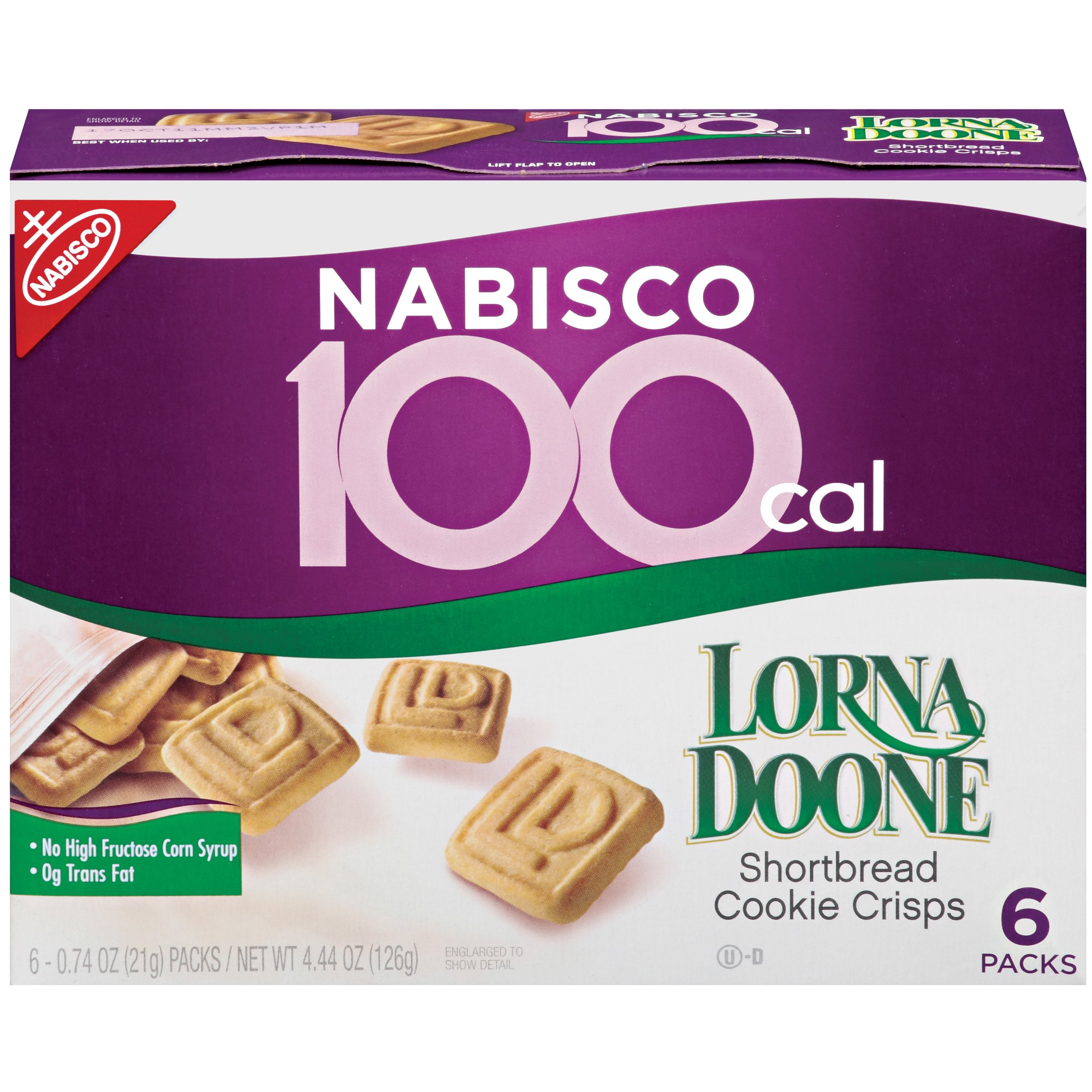 100 Calorie Packs Lorna Doone Shortbread Cookie Crisps, 6-Count Boxes (Pack of 6)