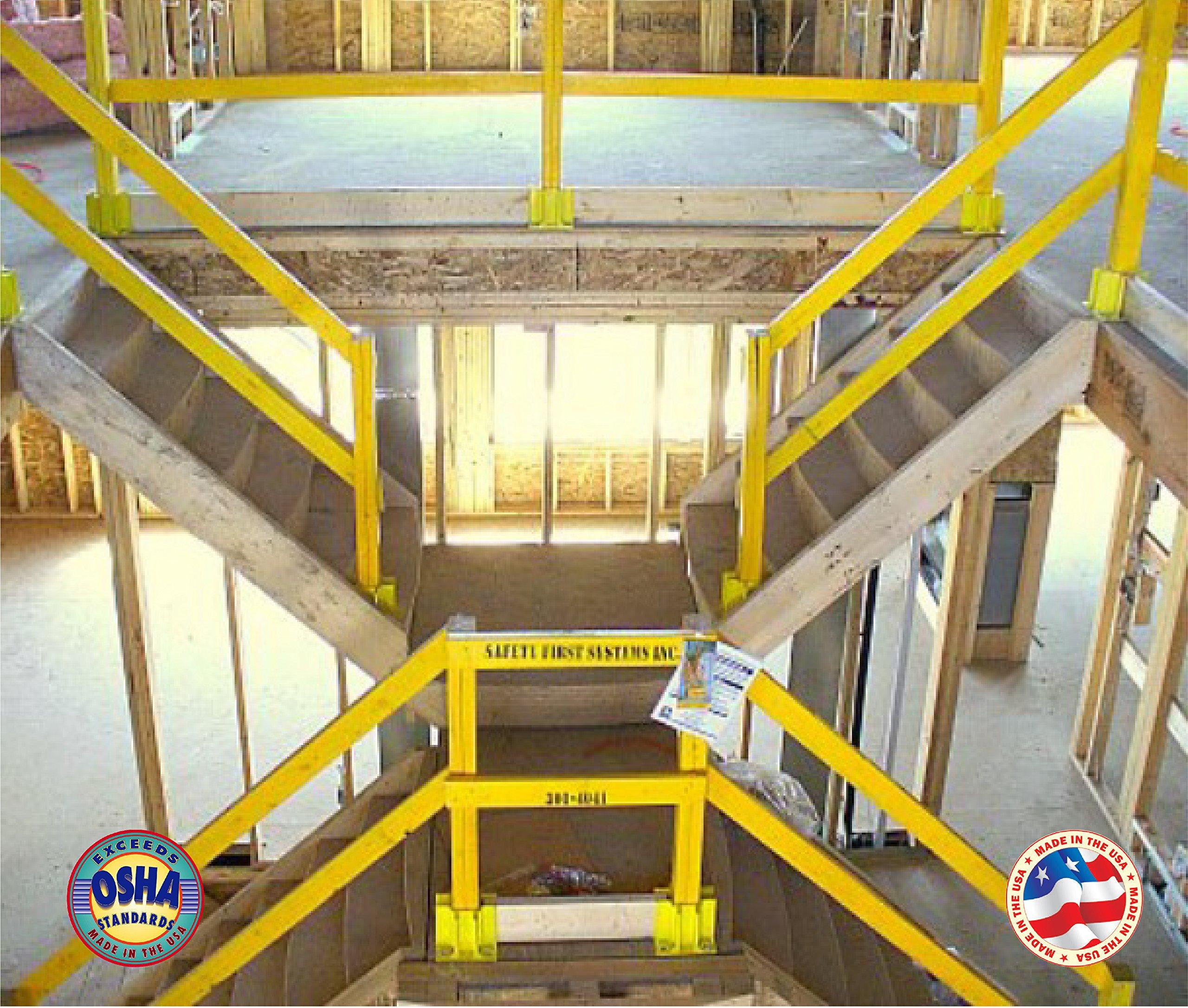 Safety Boot Yellow OSHA Temporary Guard Rail System by Safety Maker (12 Units) by Safety Maker, Inc. (Image #5)