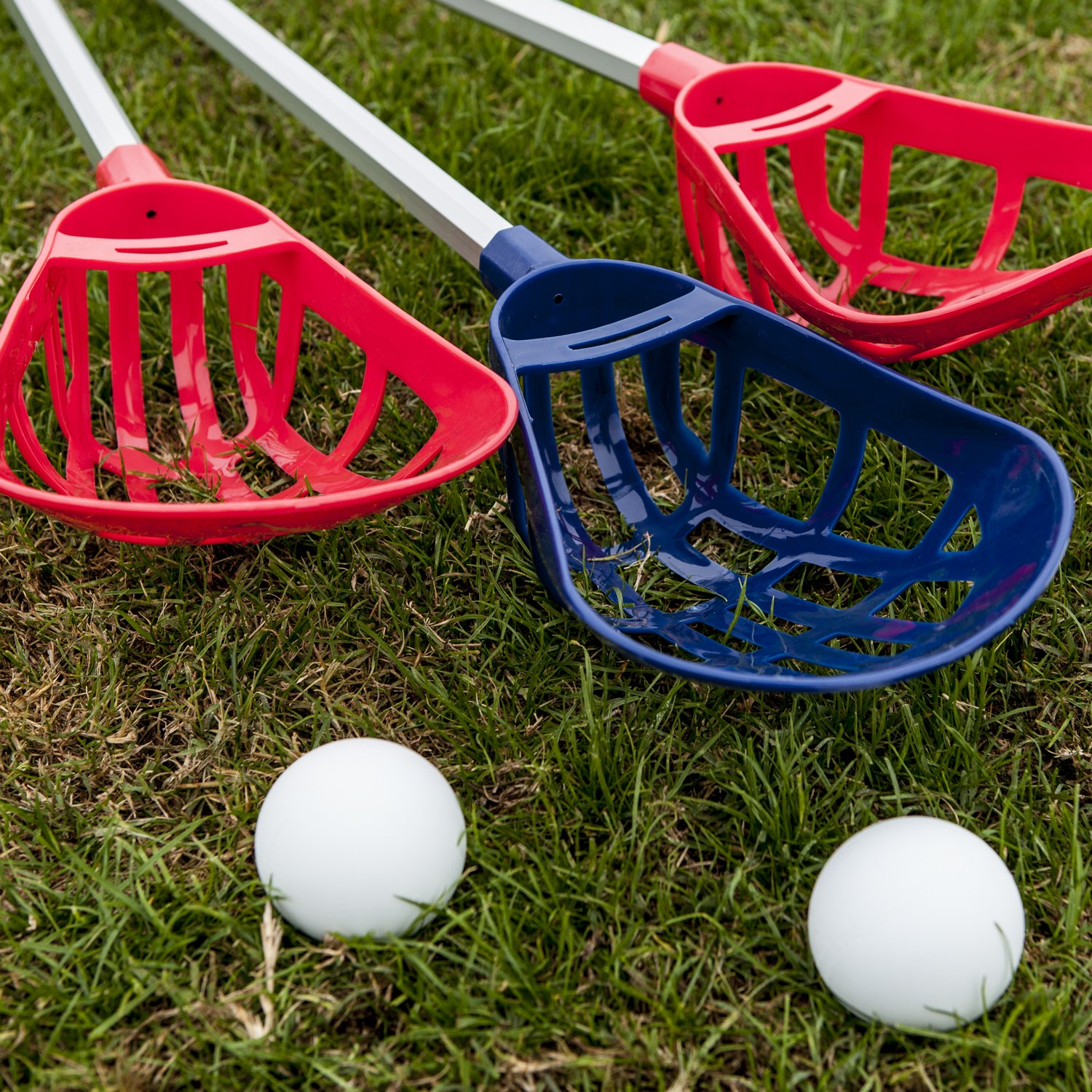 Champion Sports Soft Lacrosse Set: Training Equipment for Boys, Girls, Kids, Youth and Amateur Athletes - 12 Aluminum Sticks and 6 Vinyl Balls for Indoor Outdoor Use by Champion Sports (Image #7)
