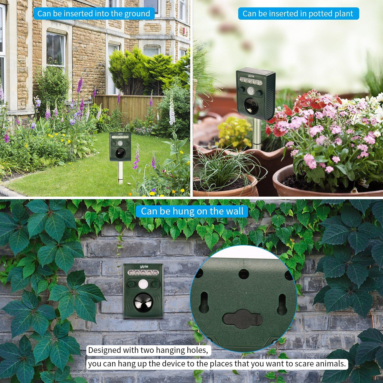 Cat Repellent Animal Repeller Solar Scarer Powered Ultrasonic Outdoor Waterproof Application
