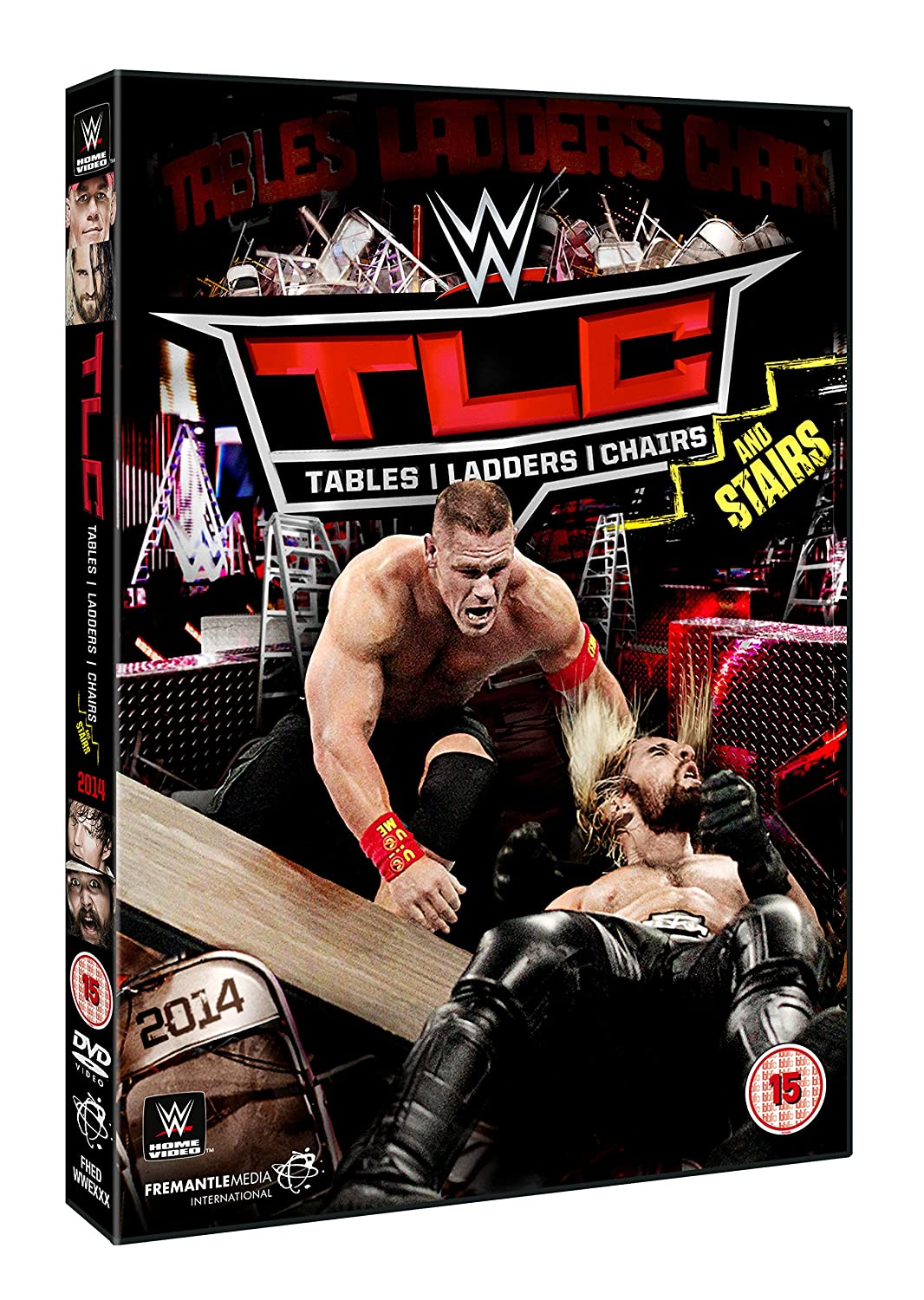 Wwe tables ladders and chairs 2013 poster - Wwe Tlc Tables Ladders Chairs 2014 Dvd Amazon Co Uk John Cena Dolph Ziggler Seth Rollins Dvd Blu Ray
