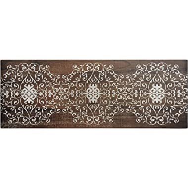 20 x55  Oversized Cushioned Anti-Fatigue Kitchen Runner Mat (Scroll)
