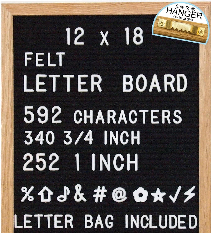 Amazon ReadyWerks Black Felt Letter Board 12x18 Inches 12 x