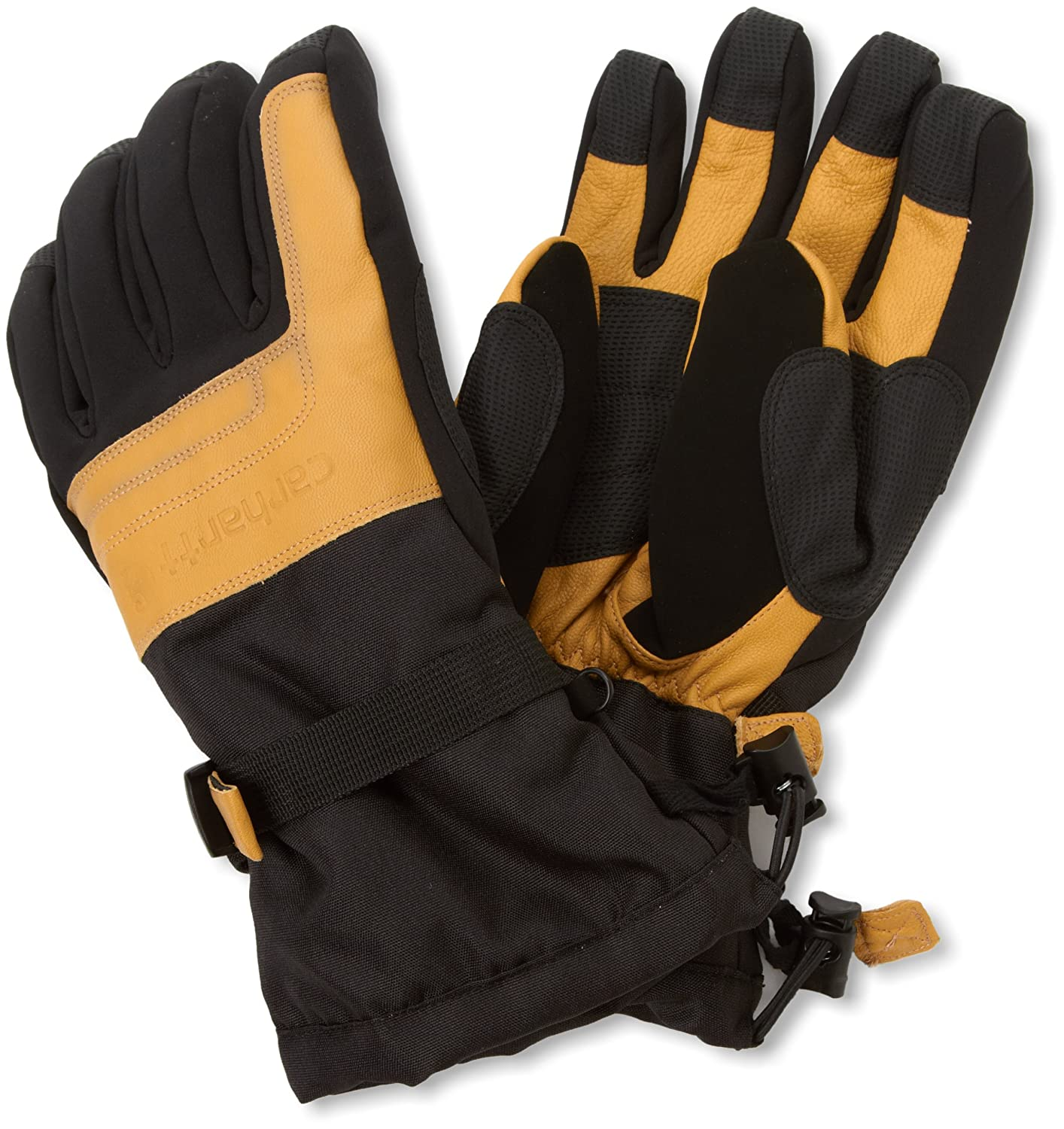 Carhartt Men's Cold Snap Insulated Work Glove, Black/Barley, Large A505