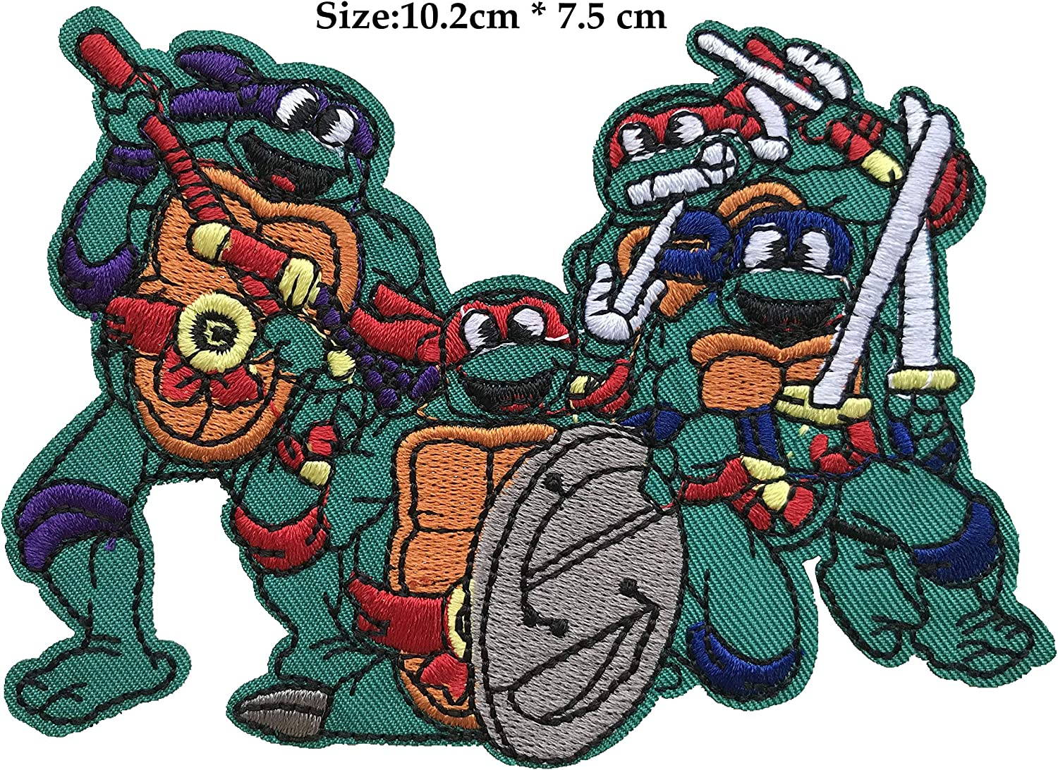 iron-on TEENAGE MUTANT NINJA TURTLE patches lot of 8 pieces