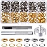 Pangda Grommet Kit with 100 Set Grommets (1/ 4 Inch)