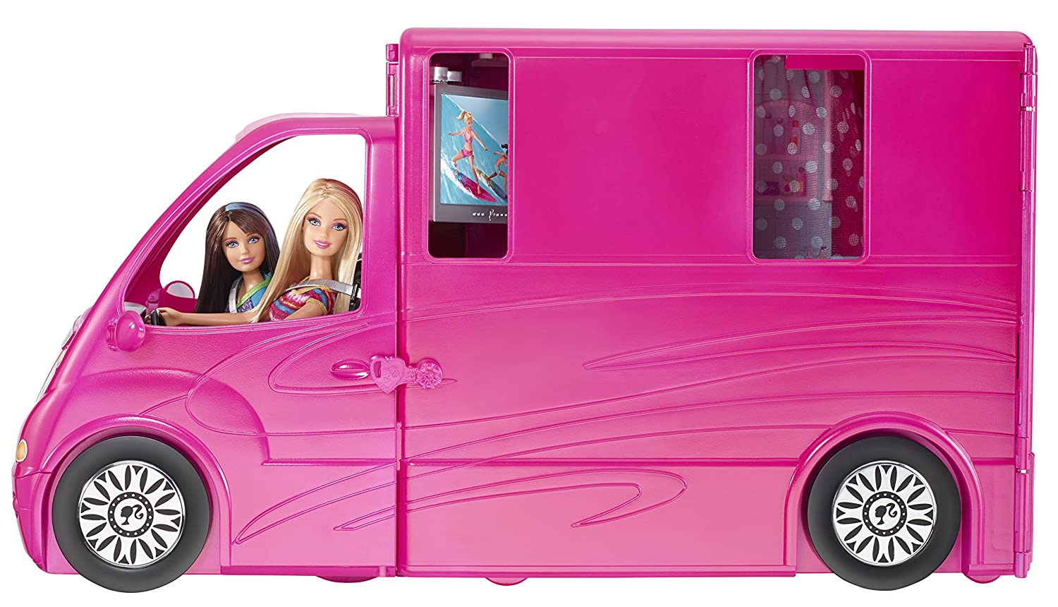 amazoncom barbie sisters life in the dreamhouse camper discontinued by manufacturer toys games