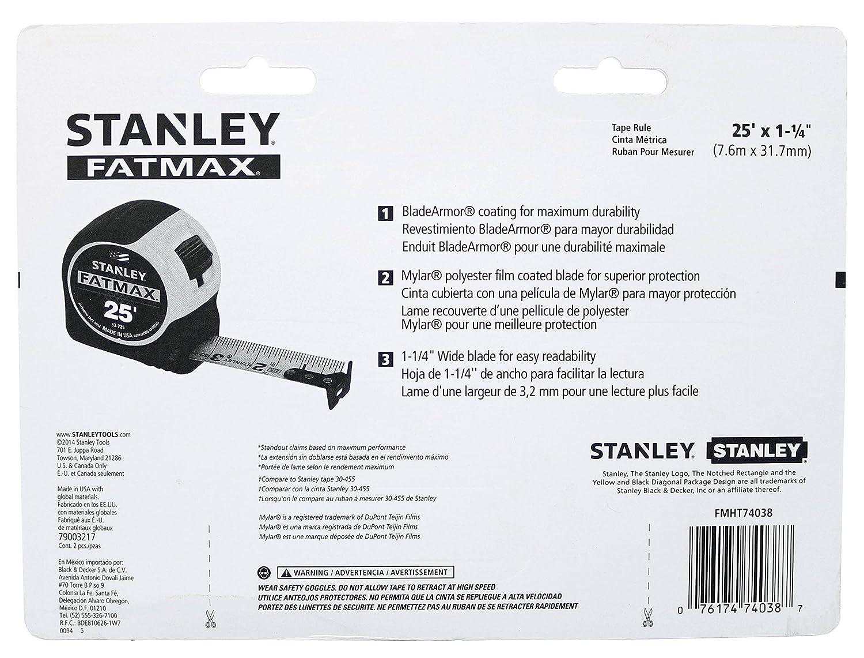2 Pack Stanley Consumer Tools FMHT74038 25 Fatmax Tape Measure