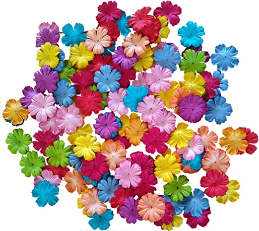 scrapbooking Mixed colours Fabric flower embellishments crafting projects