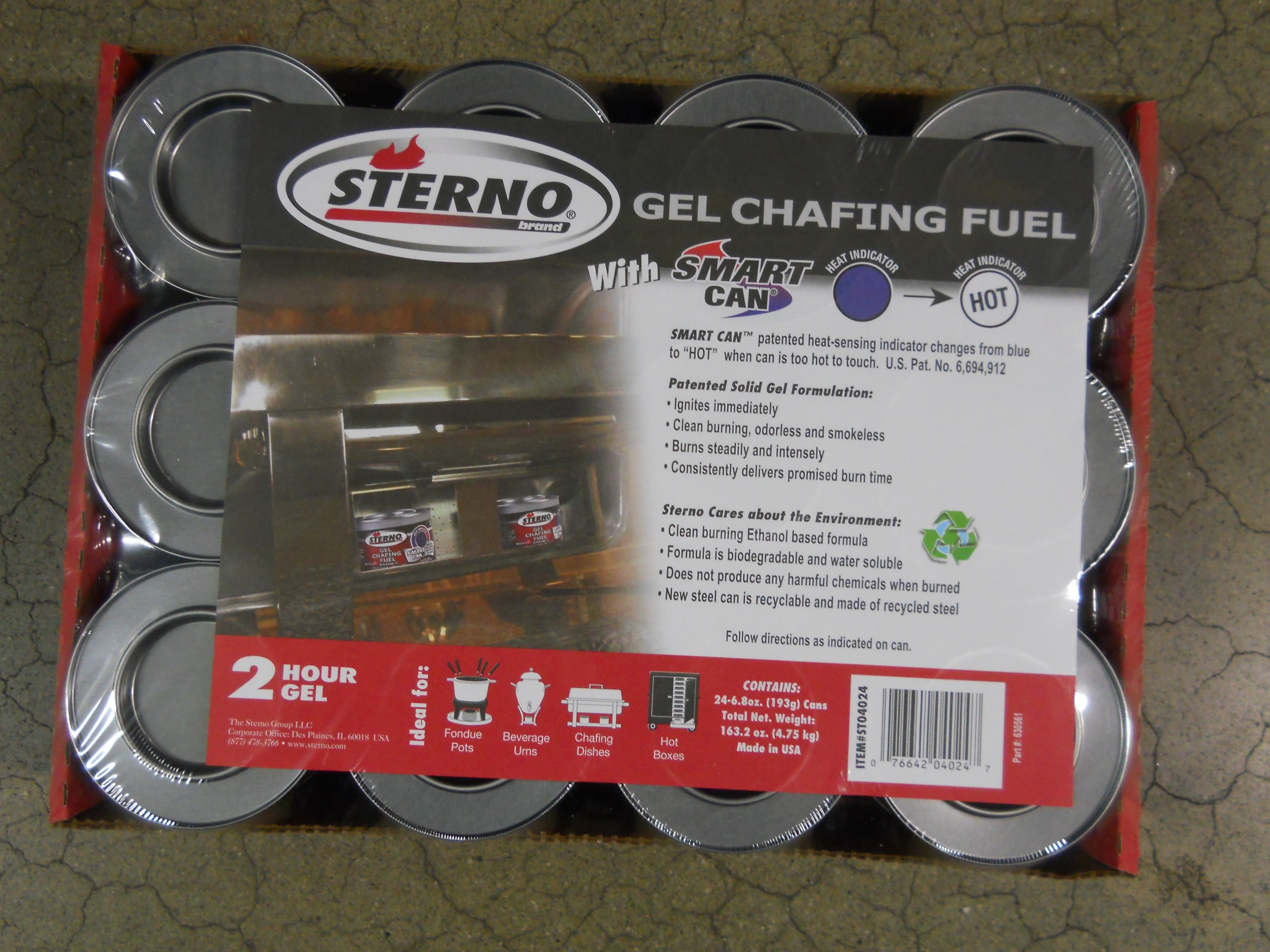 Sterno Gel Crafing Fuel 2 Hour 24 Count