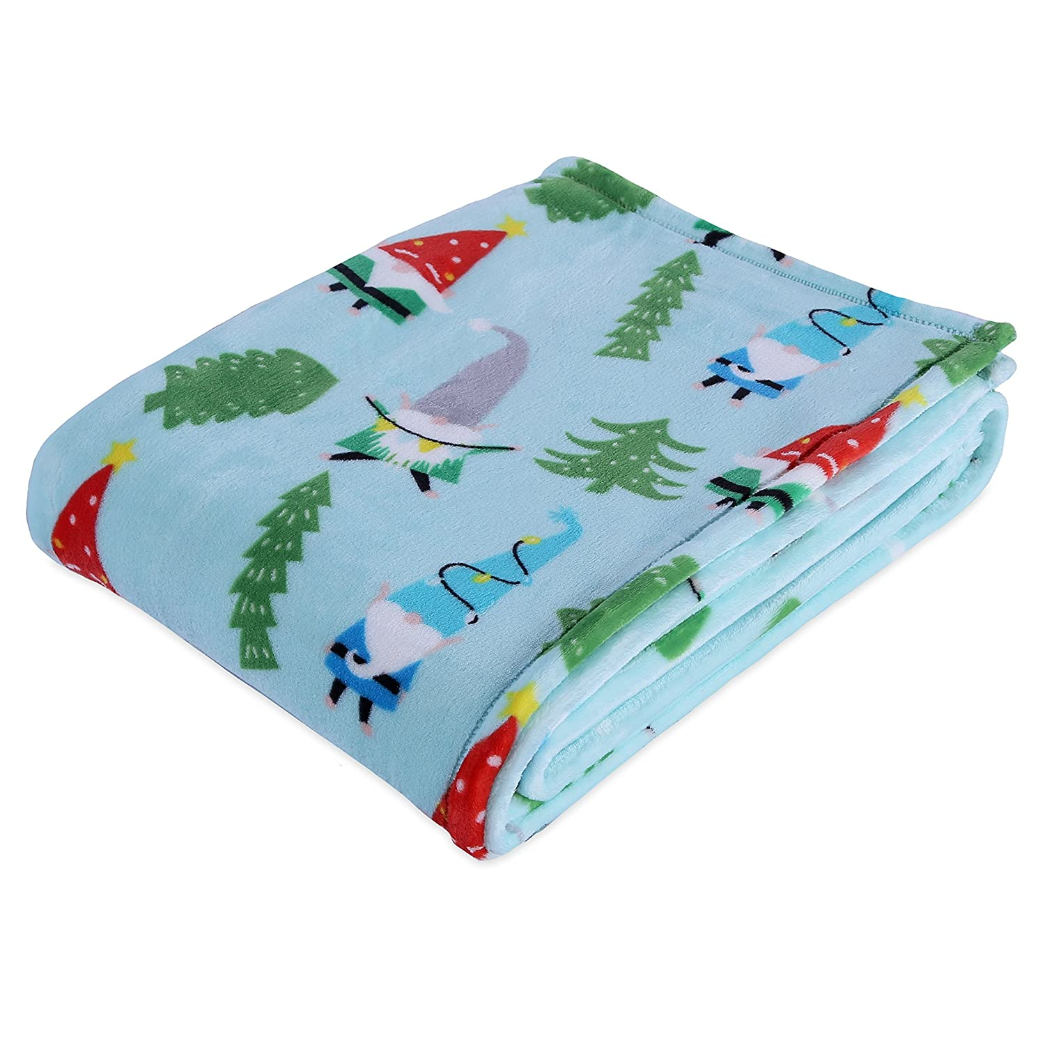 Berkshire Blanket VelvetLoft Holiday Gnomes Throw
