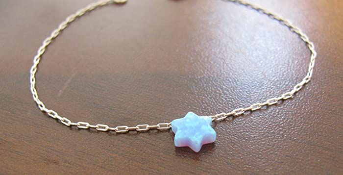 Amazon.com: Star of David bracelet, opal bracelet, Jewish bracelet, Jewish jewelry, opal jewelry, gift for bat mitzvah, silver bracelet, Star of David: ...