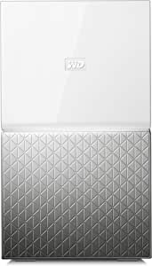 WD 16TB My Cloud Home Duo Dual-Drive Personal Cloud, Centralised Storage - 3 Step Setup - Smart Device App - Network Attached - WDBMUT0160JWT-SESN