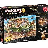 Wasgij 19164 Original 31-Safari Surprise 1000 Piece Jigsaw Puzzle, Multi