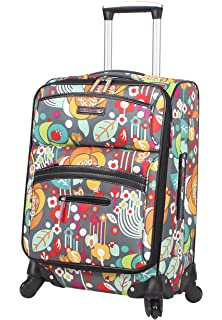 87b934968c Lily Bloom Luggage Carry On Expandable Design Pattern Suitcase For Woman  With Spinner Wheels