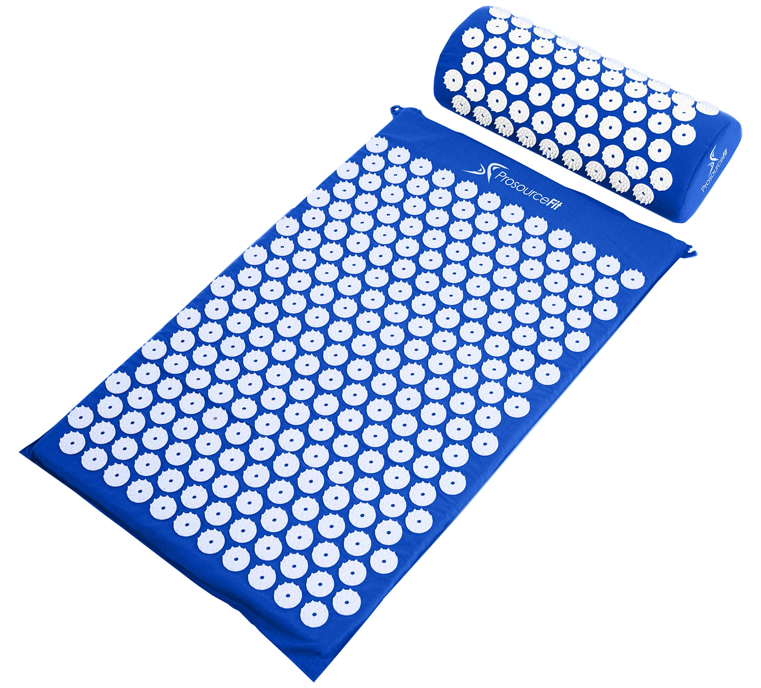 ProSource Acupressure Mat and Pillow Set for Back/Neck Pain Relief and Muscle Relaxation, Blue by ProSource