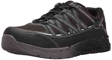 b41b036f915 KEEN Utility Men's Asheville Alloy Toe ESD Industrial and Construction Shoe,  Black/Raven,