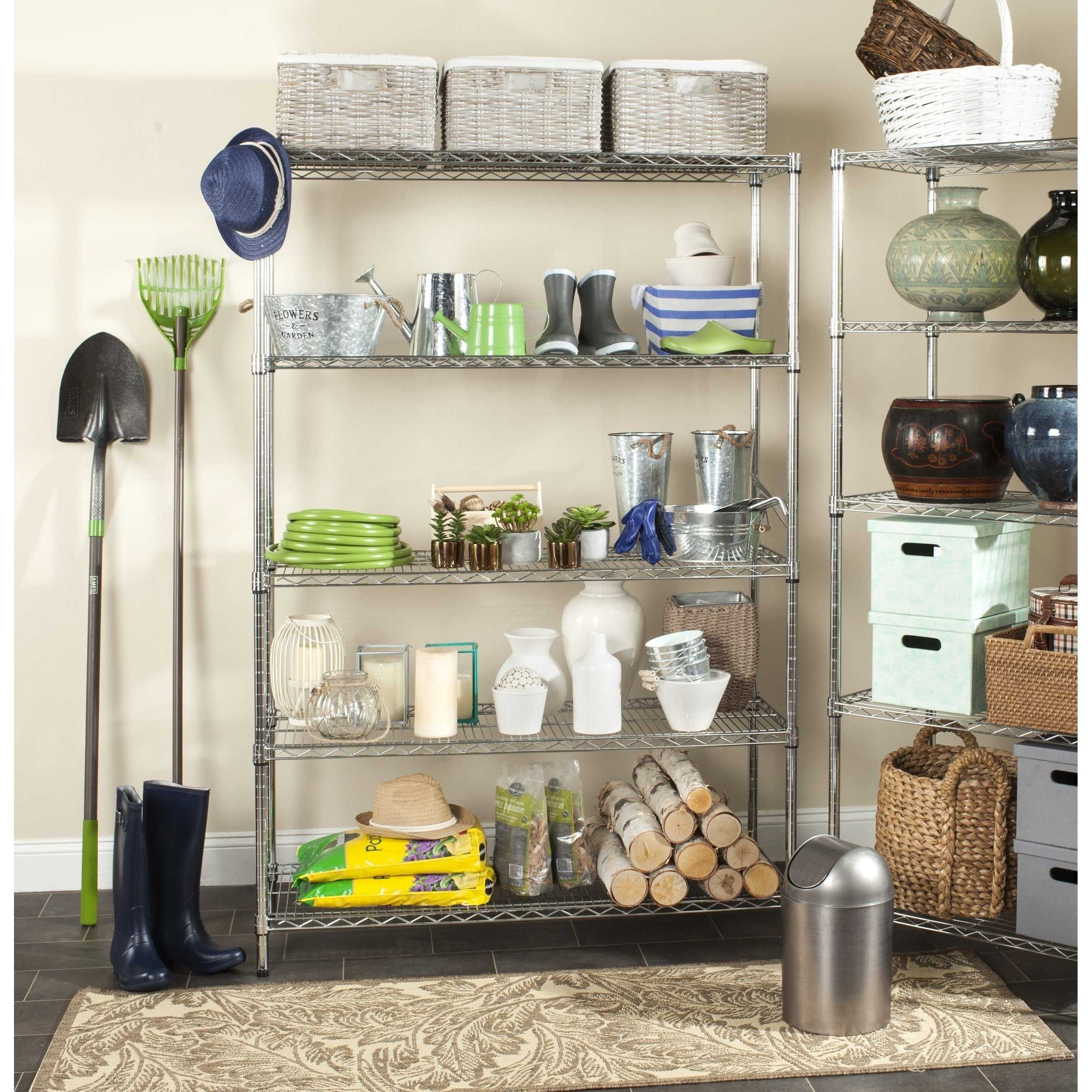 Safavieh Home Collection Christian Chrome Premium 63'' Wire Single Rod Clothes Rack