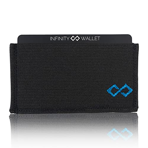 Infinity Wallet - Cartera minimalista para hombre, Azul (Azul), Talla única