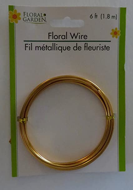14-Gauge 6 ft Craft Projects for Centerpieces Wreaths Gold Floral Wire Flower Arranging and Decorating