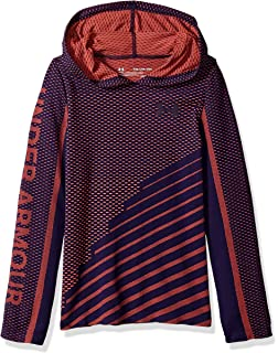 cb638d7f36 Amazon.com: Under Armour Armor Girls' Threadborne Long Sleeve Hoodie ...