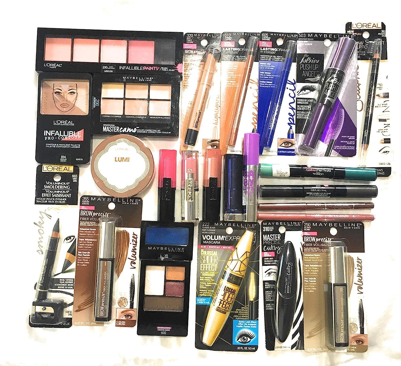 Amazon.com : 25 Assorted Piece Lot of Name Brand Makeup Wholesale, No Dups : Beauty