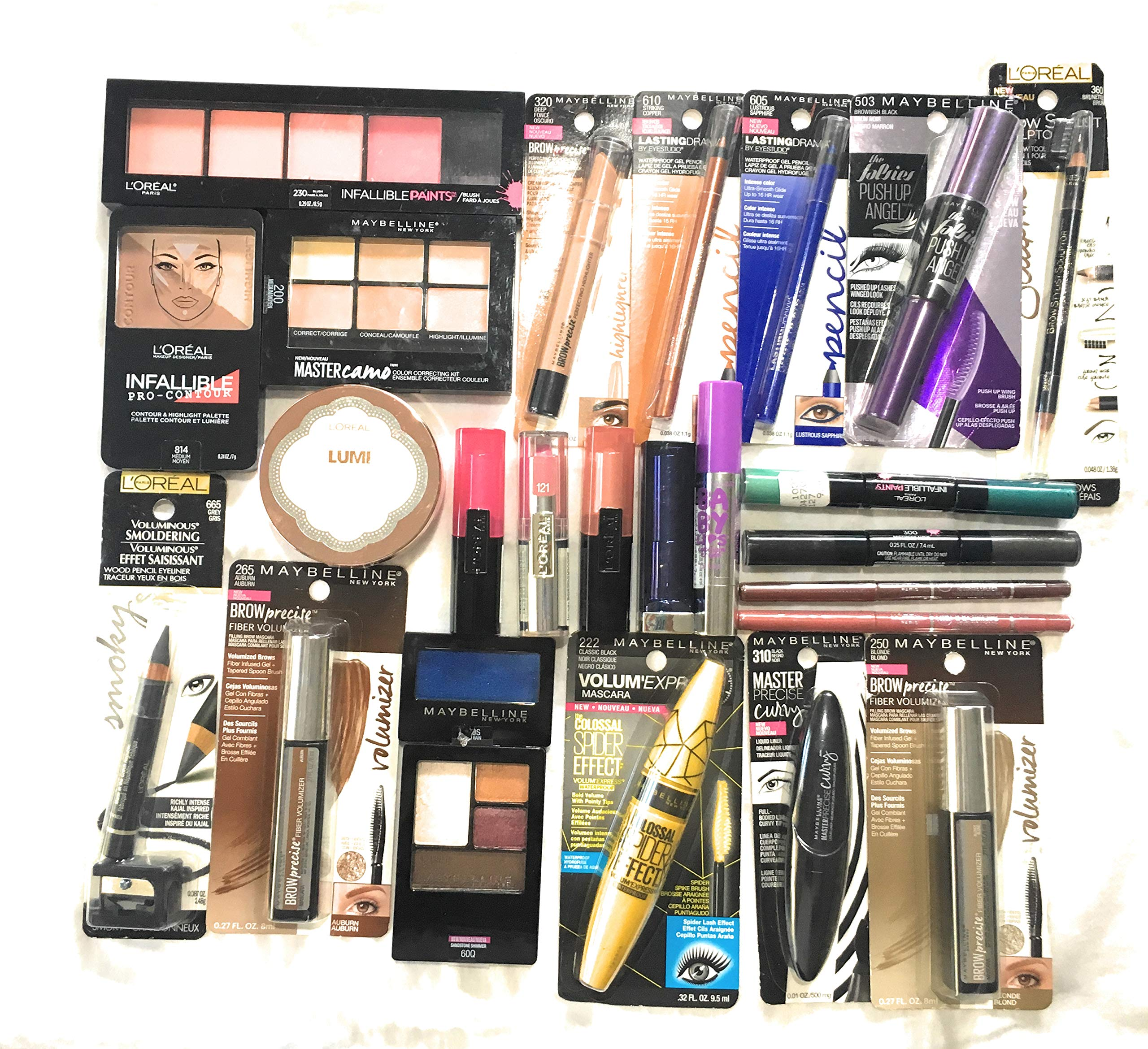 25 Assorted Piece Lot of Name Brand Makeup Wholesale, No Dups by Unknown (Image #1)