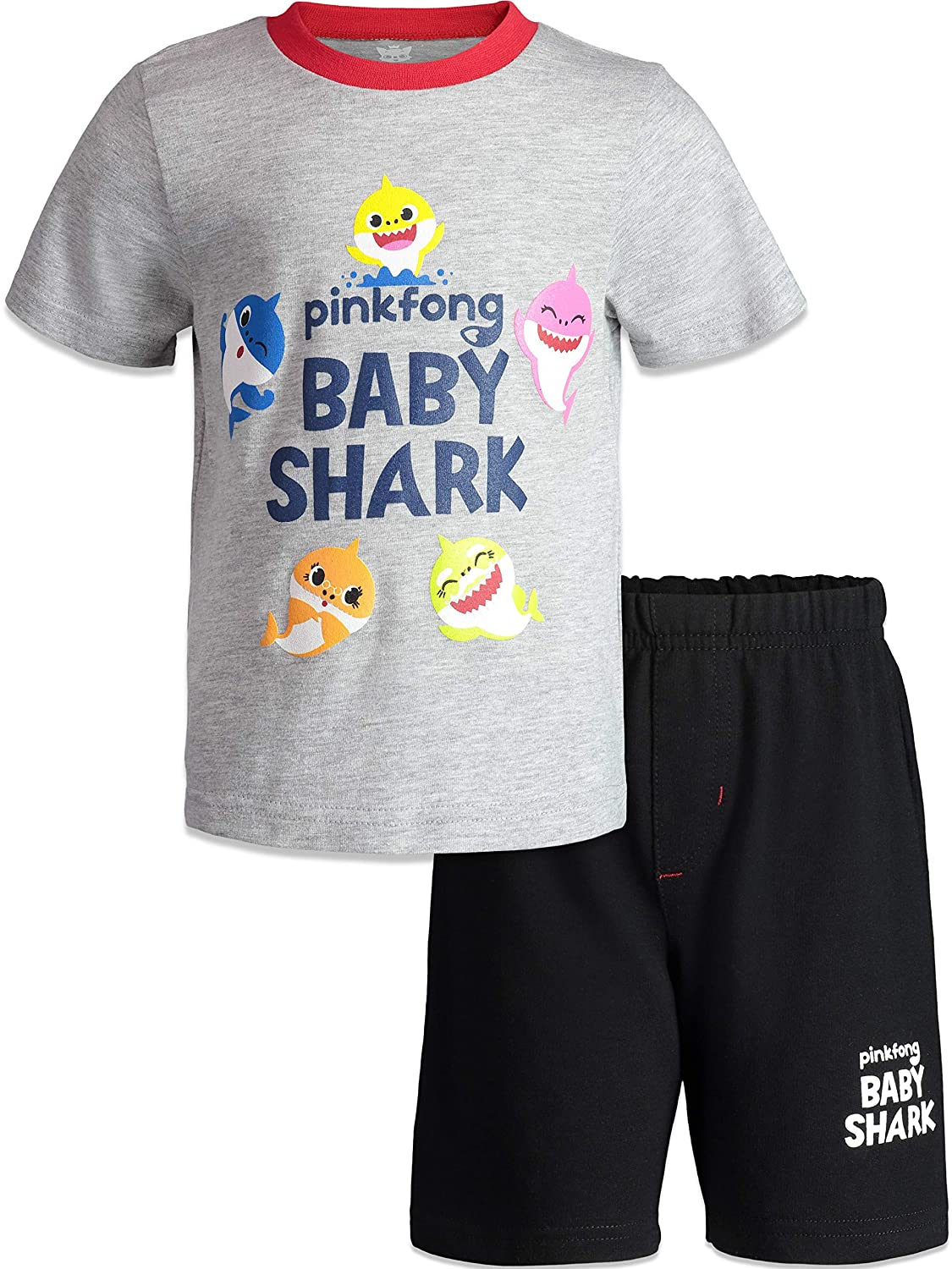 Baby Shark Boys Short Sleeve T-Shirt /& Shorts