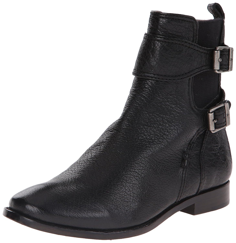 FRYE Women's Anna Gore Short Buffalo Leather Boot B00R54VSD2 10 B(M) US|Black-74651