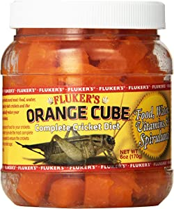 Fluker's 71300 Orange Cube Complete Cricket Diet, 6oz