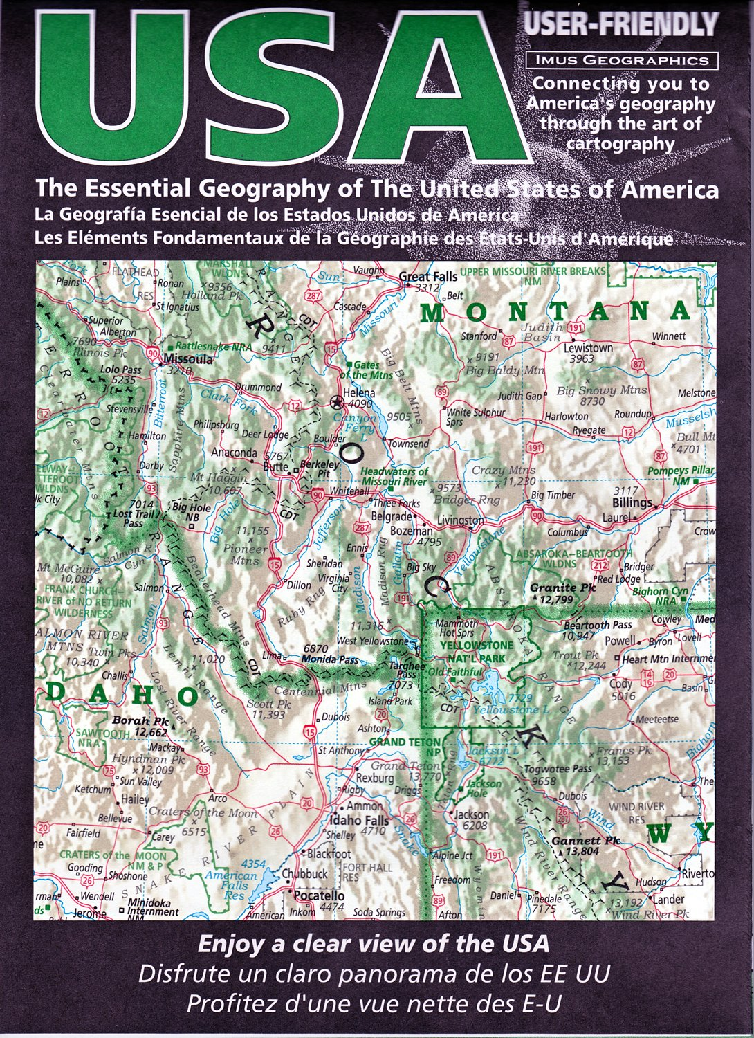 Read Online The Essential Geography of the United States of America (French, English and Spanish Edition) PDF