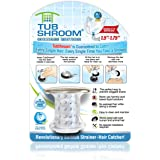TubShroom Chrome Edition Revolutionary Tub Drain Protector Hair Catcher, Strainer, Snare