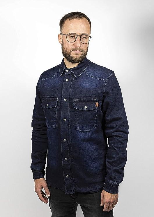 John Doe Herren Motoshirt Dark Blue Hemd Auto