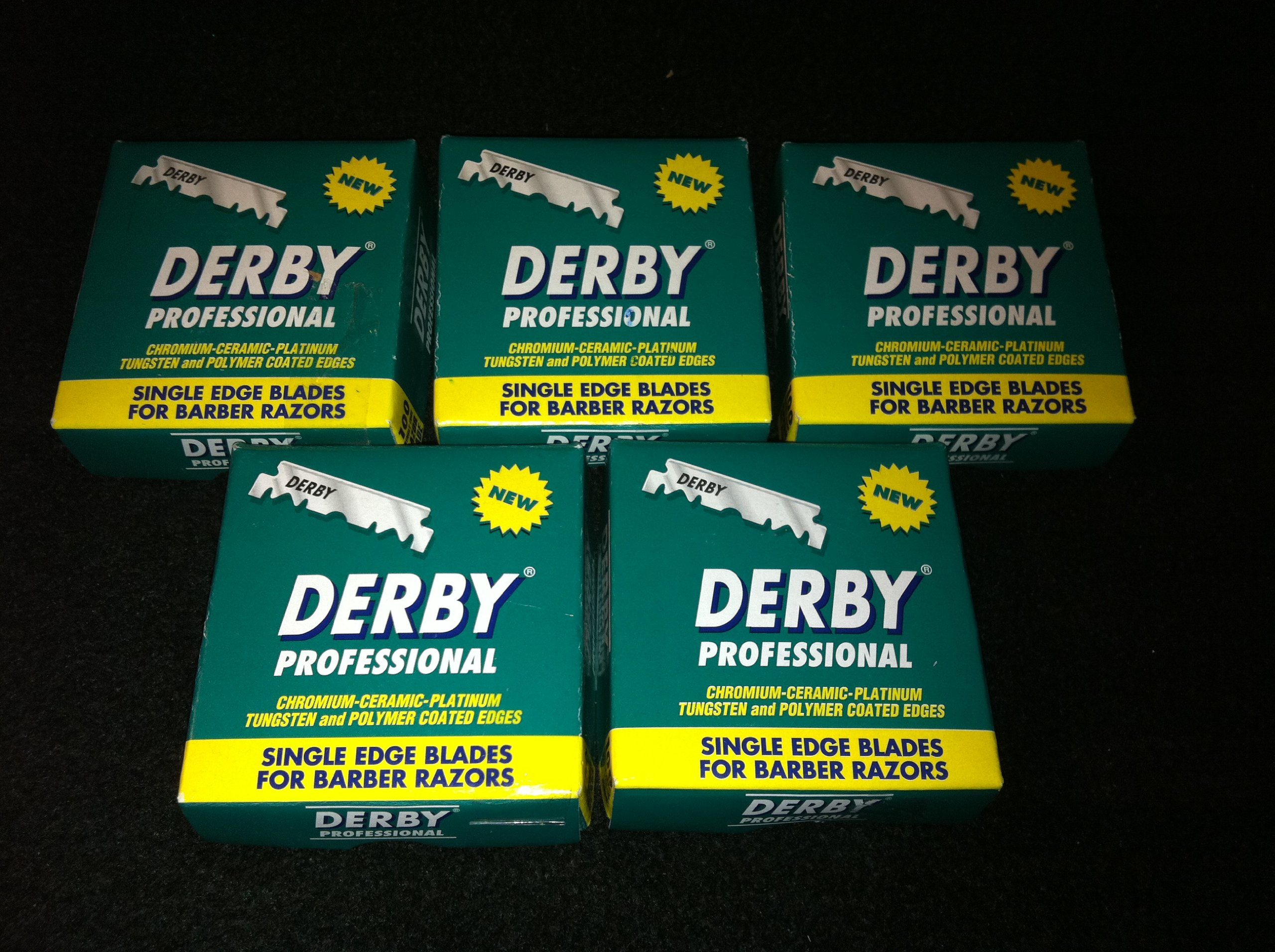500 ''Derby Professional'' Single Edge Razor Blades for straight razor