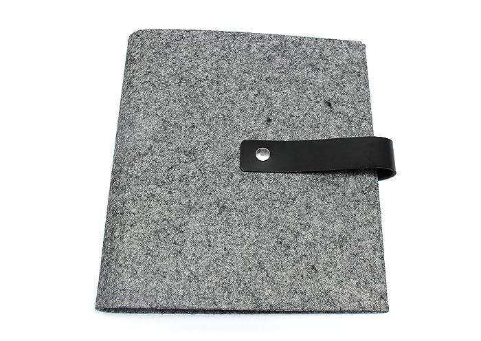 Archivador con cubierta de fieltro DIN A5 y DIN A4 - En 11 colores - Con grabado personalizado: Amazon.es: Handmade