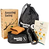 Extra Long (10 FT) Tree Swing Hanging Kit – Holds 1000 lbs. with Anti Breaking Cover & Safety Lock Carabiner + Detailed Hanging Instructions – Top Rated Nylon Swing Strap