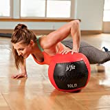 j/fit Medicine Ball, Red/Black, 12-Pound