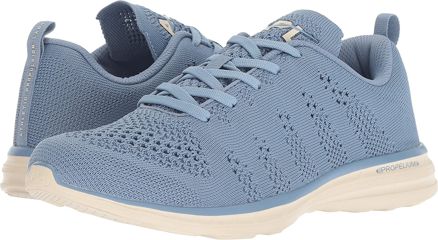 APL: Athletic Propulsion Labs Women's Techloom Pro Sneakers B07BH37XMR 5 M US|Grey Denim/Parchment