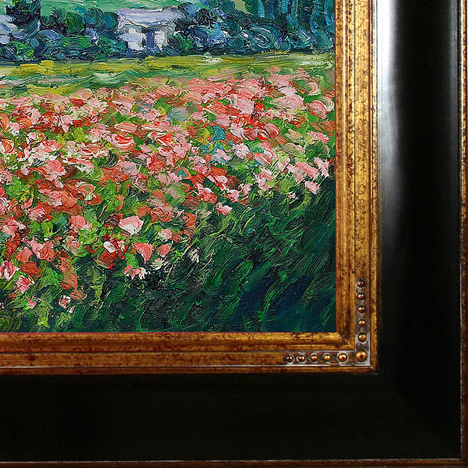 overstockArt Claude Monet Poppy Field near Giverny 20-Inch by 24-Inch Framed Oil on Canvas
