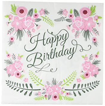 Amazon Ginger Ray Floral Fancy Design Happy Birthday Party