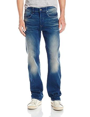 ea77e2e61258c2 G-STAR RAW Men's 3301-Loose Jeans, Blue (Medium Aged 6090-
