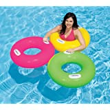 1 Piece Intex 30 Inch Inflatable Pool Swim Tube with Two Handles – For Ages 8+ Years