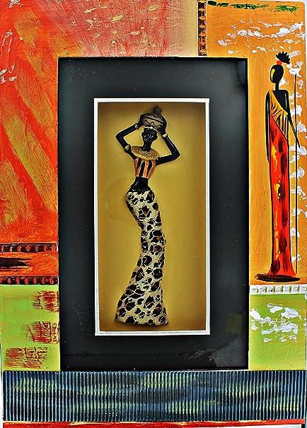 Amazon.com: Black Lady African Shadow Box Shadowbox 3D Wall Art ...