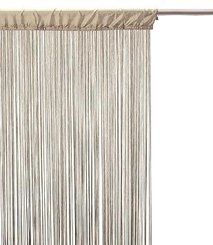 Rideau fil (largeur 90 cm) Lin: Amazon.fr: Cuisine & Maison